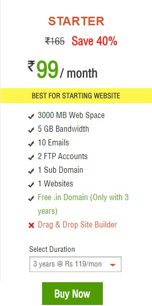 shared hosting plan hosting raja