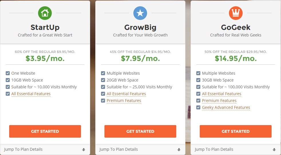 shared hosting plans siteground
